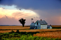 Old Farm House With A Supercell